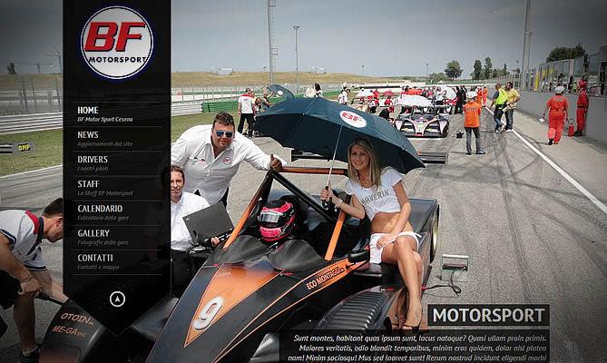 realizzazione sito internet BF Motorsport